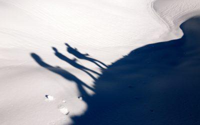 Raquette à neige sous la Loze autour de Courchevel