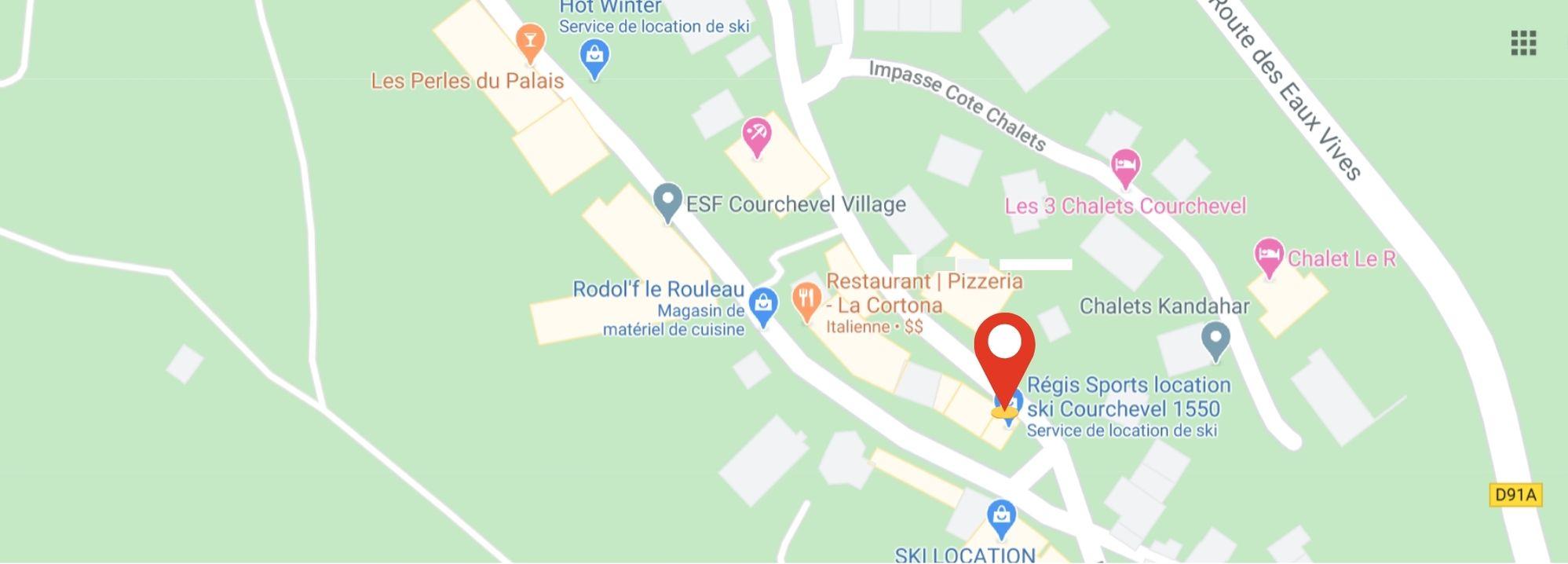 lieux de rendez-vous sorties raquettes evasion courchevel village