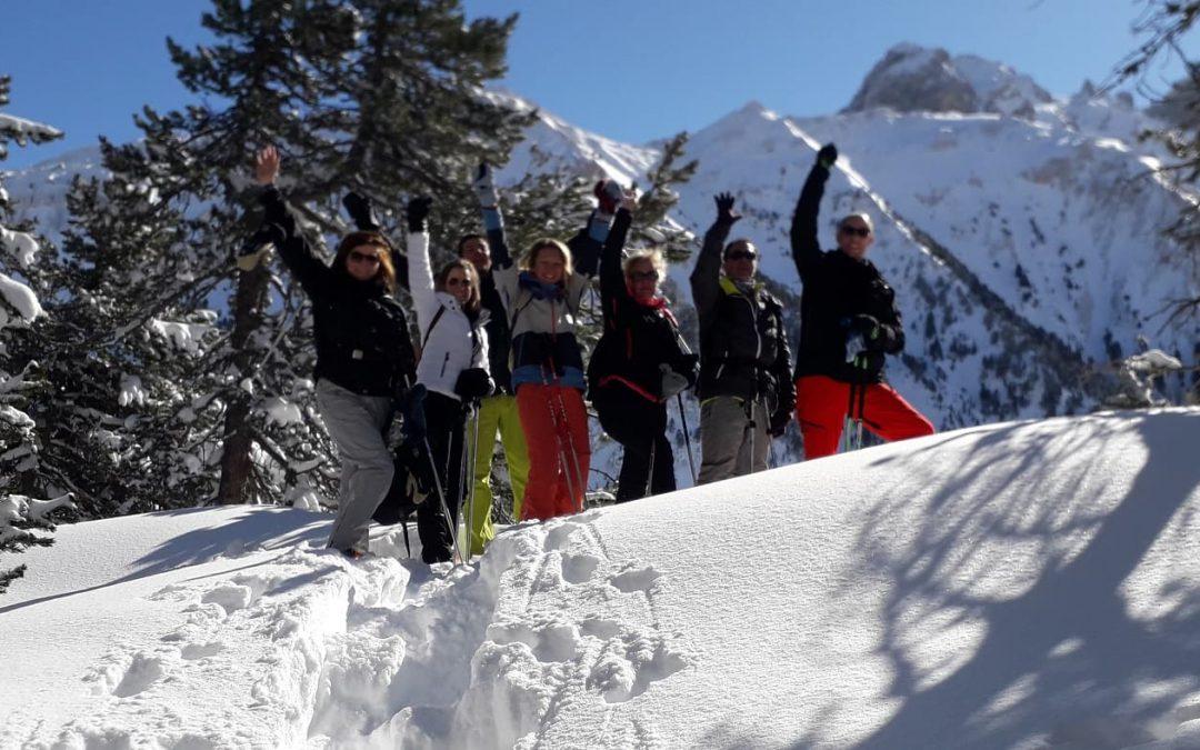 sentier raquette à neige itinéraire 5  Courchevel